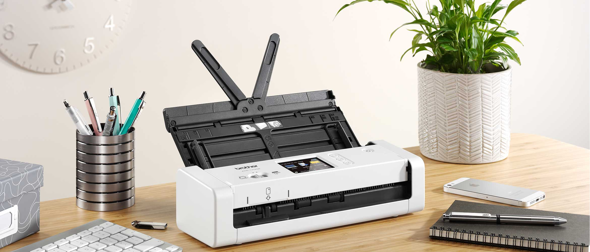ADS-1700W-scanner-on-desk-with-stationary
