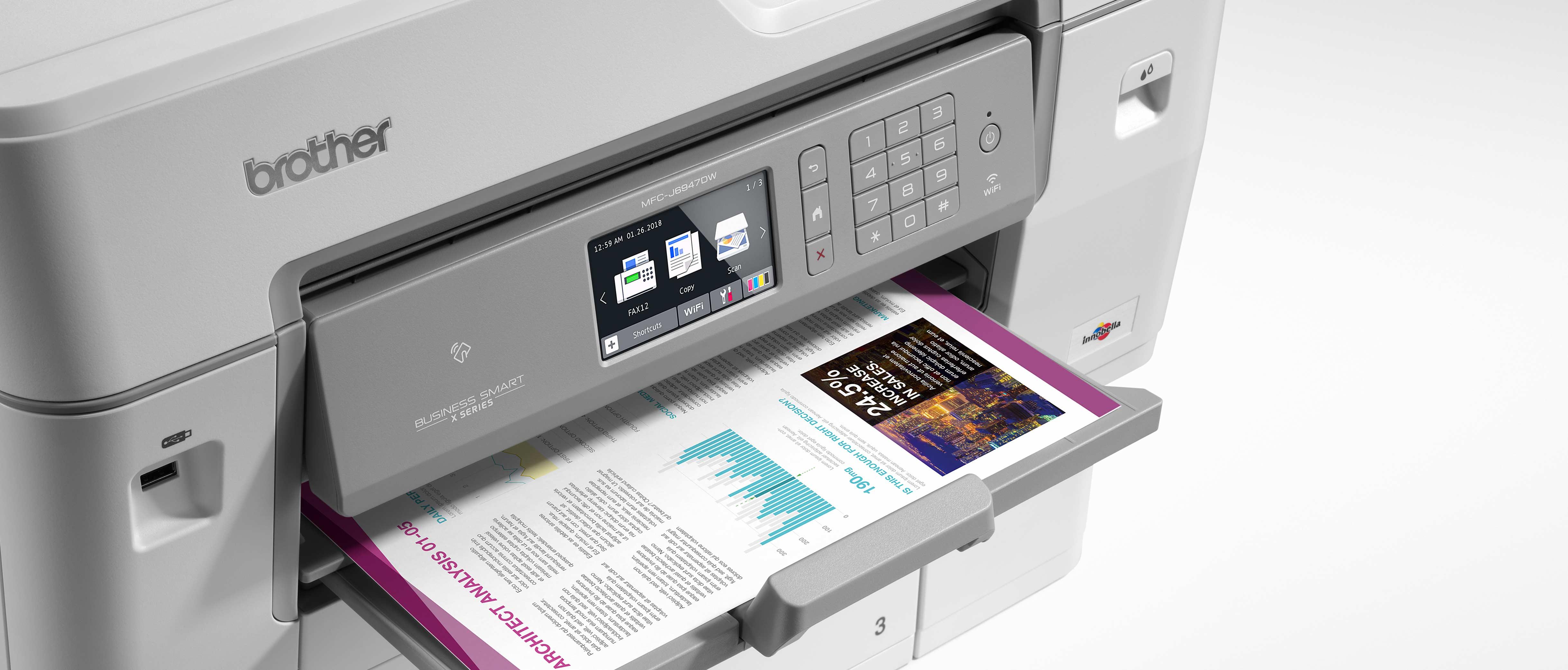MFC-J6947DW with colour document