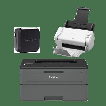 Ptouch cube ADS-2200 scanner HL-L2375DW printer
