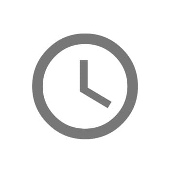 Clock icon in grey