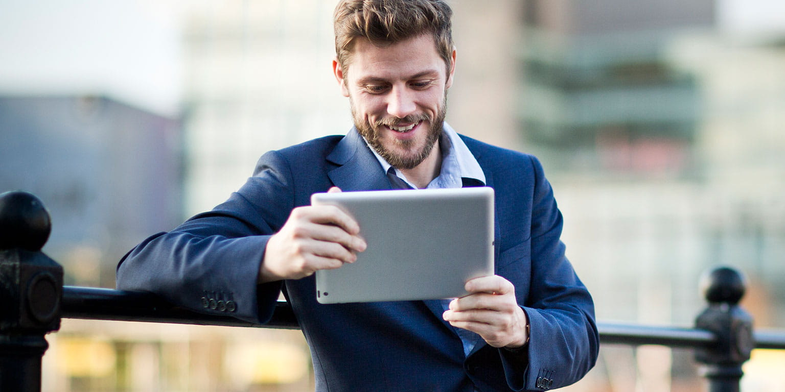 Businessman-on-ipad
