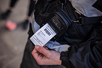 PACC002 protective case on printer used by enforcement officer