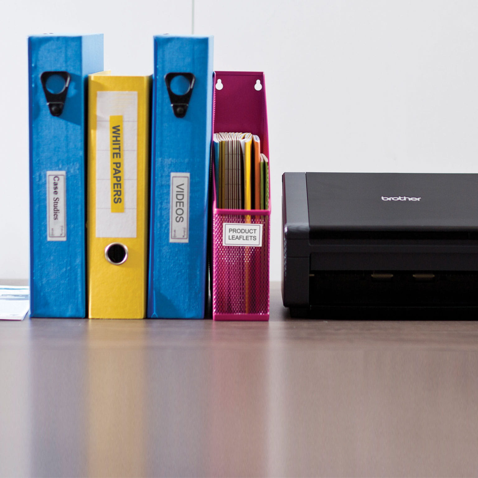 folders-and-brother-product-on-a-desk