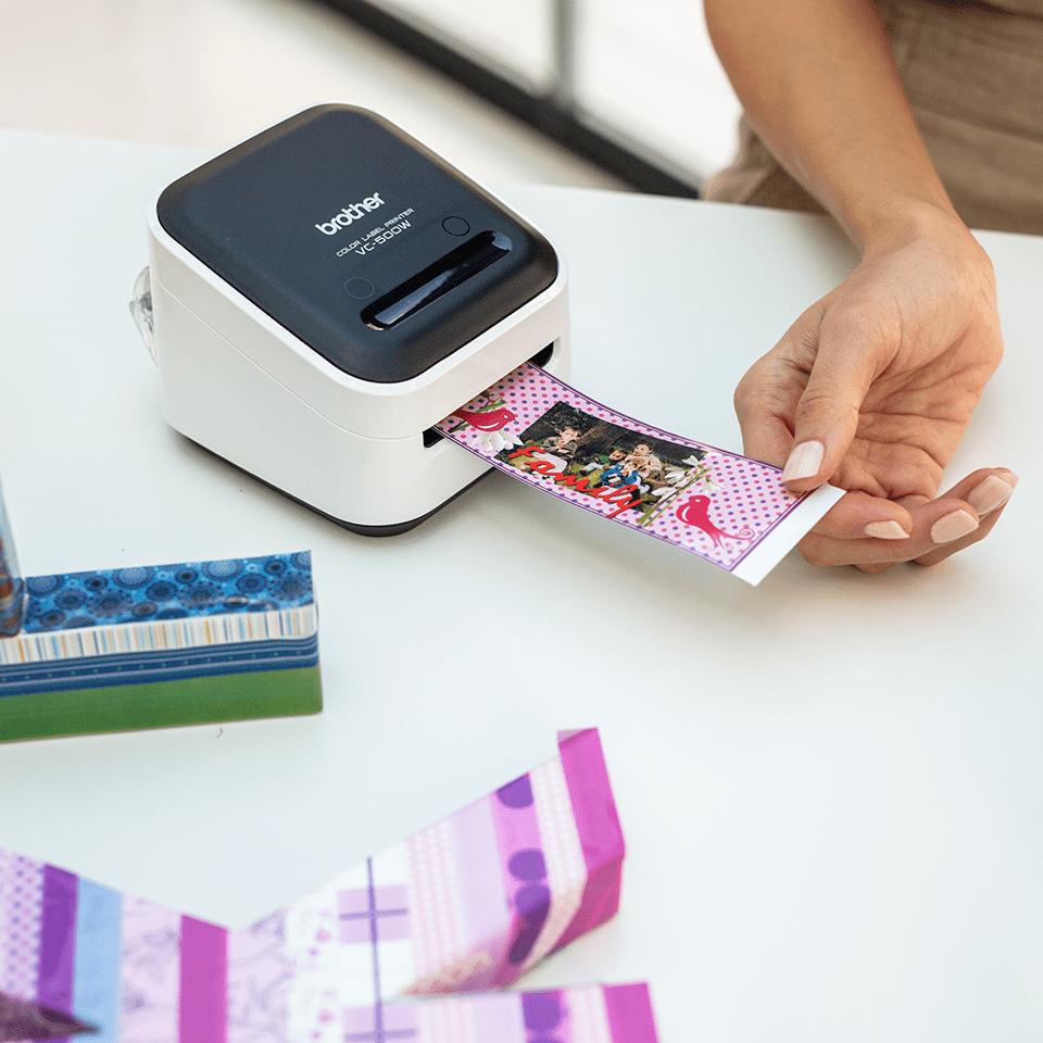 VC-500W full colour label printer 12