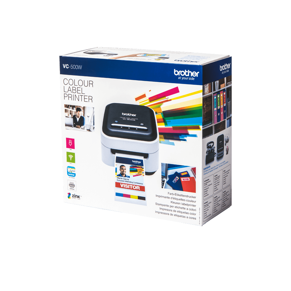 VC-500W full colour label printer 4