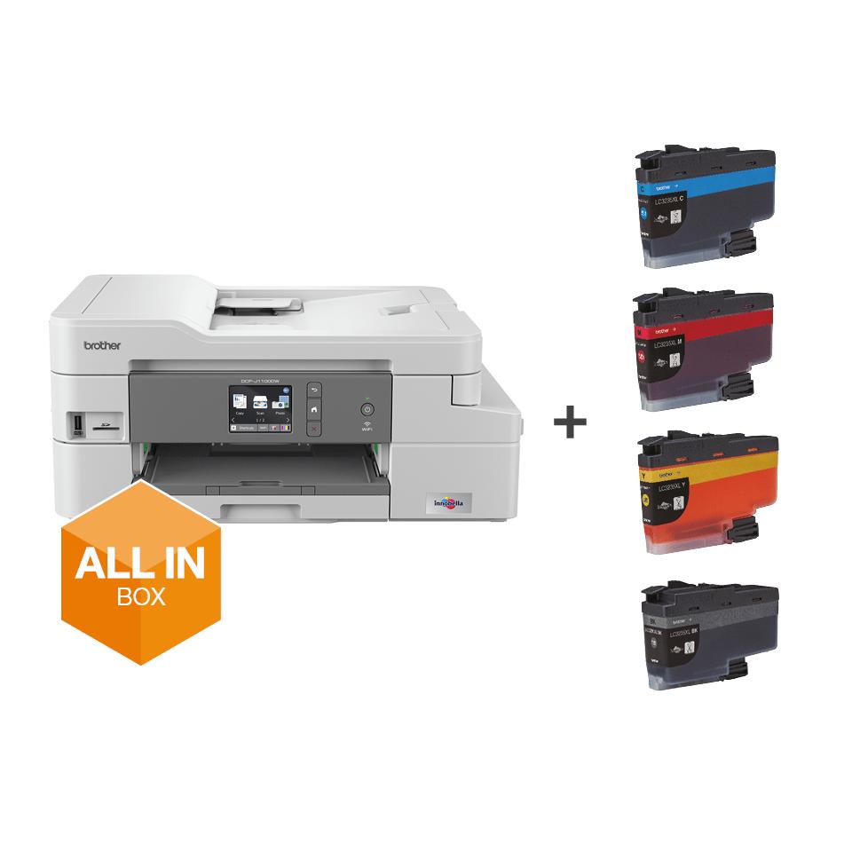 Wireless 3-in-1 Colour Inkjet Printer DCP-J1100DW All In Box Bundle
