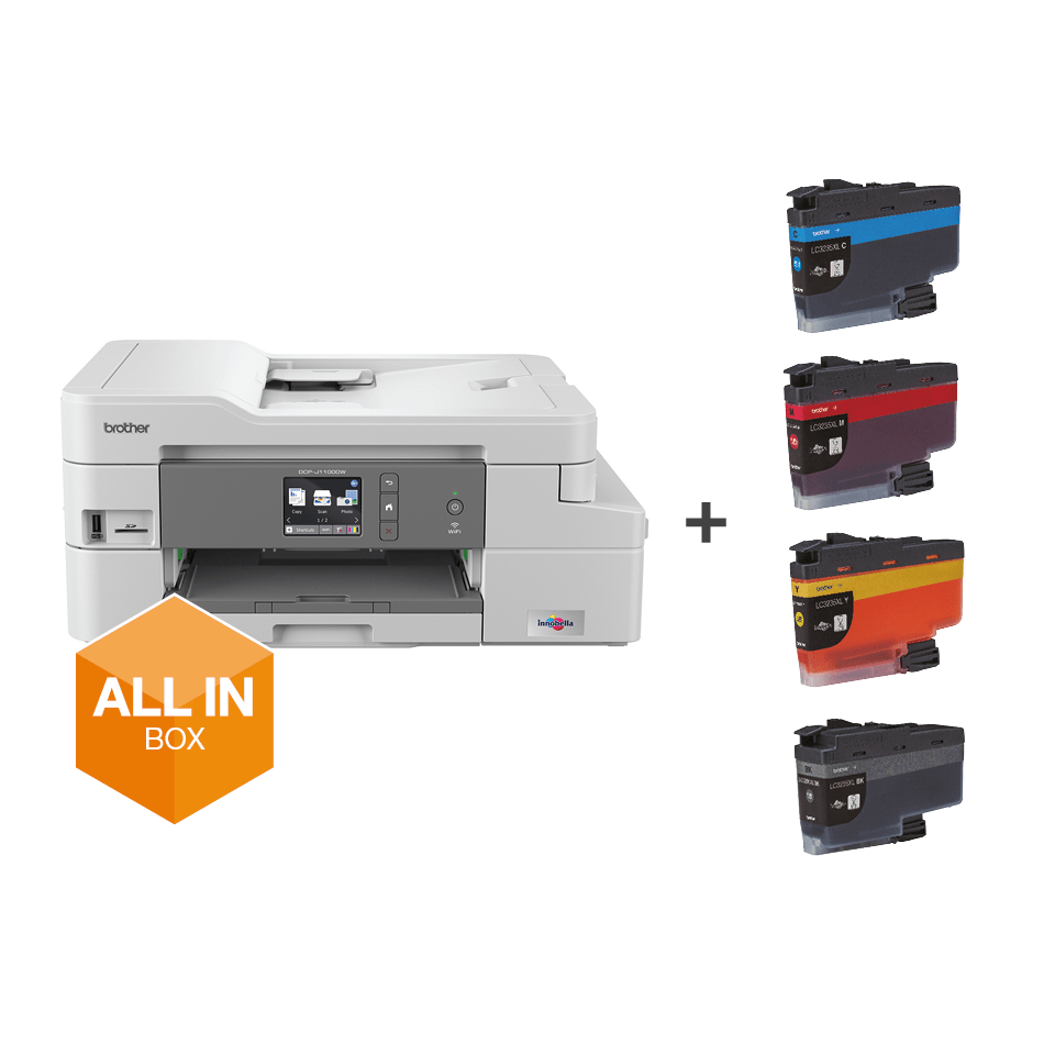 Wireless 3-in-1 Colour Inkjet Printer DCP-J1100DW All In Box Bundle