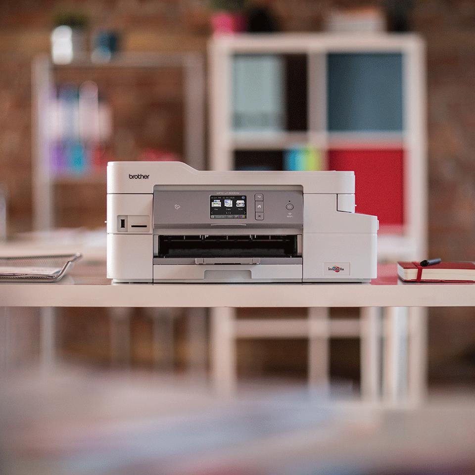 Wireless 4-in-1 Colour Inkjet Printer MFC-J1300DW All In Box Bundle 3