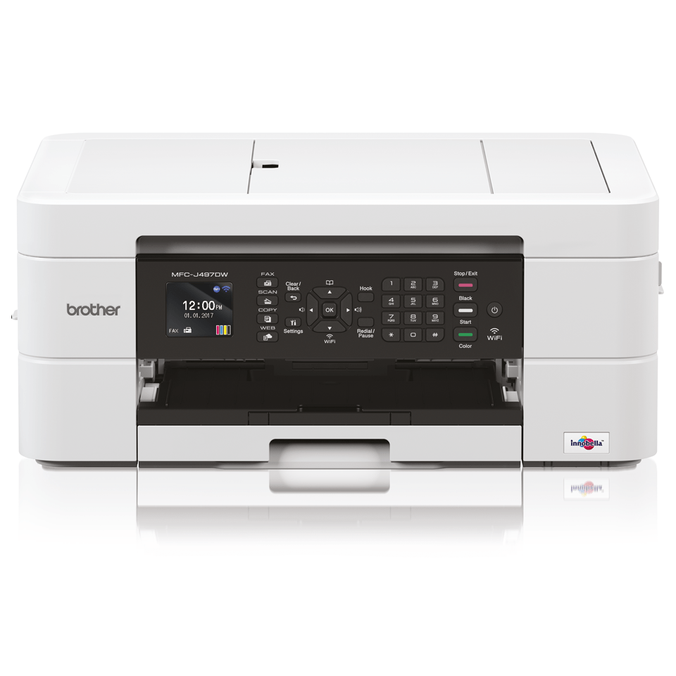 Wireless 4-in-1 Colour Inkjet Printer MFC-J497DW