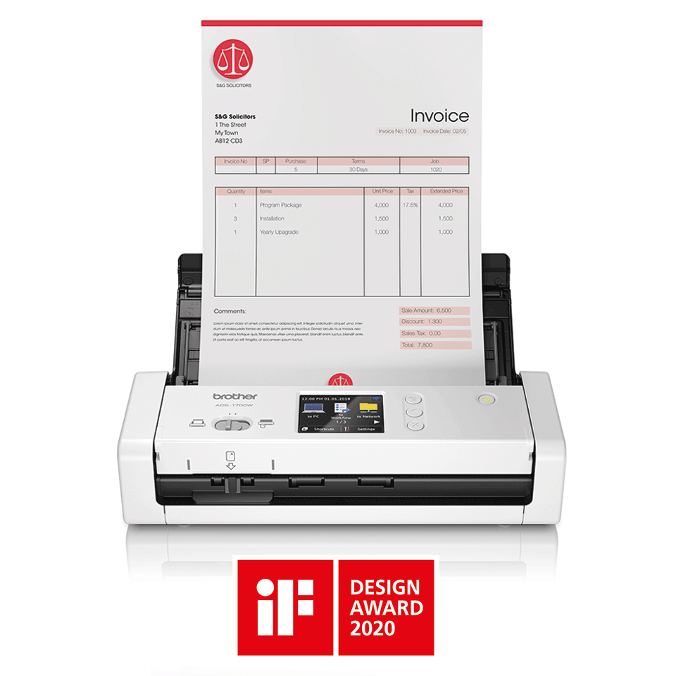 ADS-1700W Smart, Compact Document Scanner 4