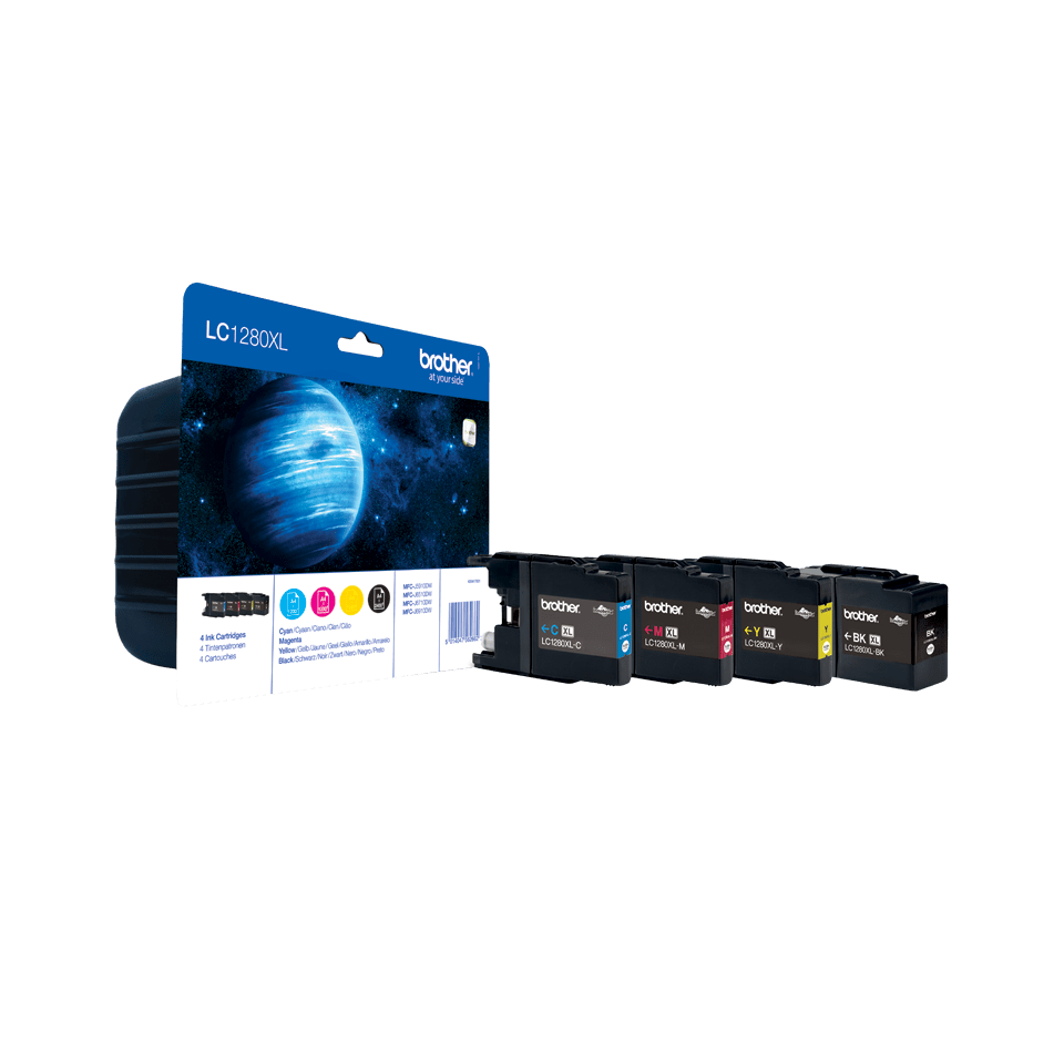 Genuine Brother LC1280XLVALBP High Yield Ink Cartridge Multipack