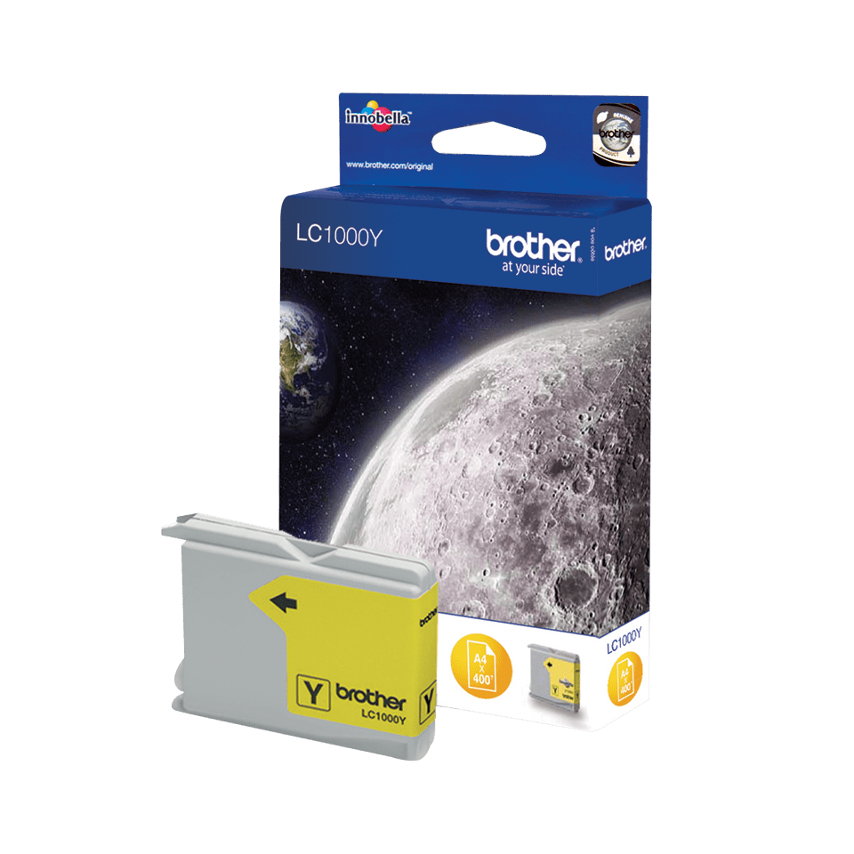 Genuine Brother LC1000Y Ink Cartridge – Yellow 2