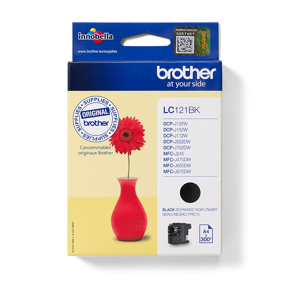 Genuine Brother LC121BK Ink Cartridge – Black