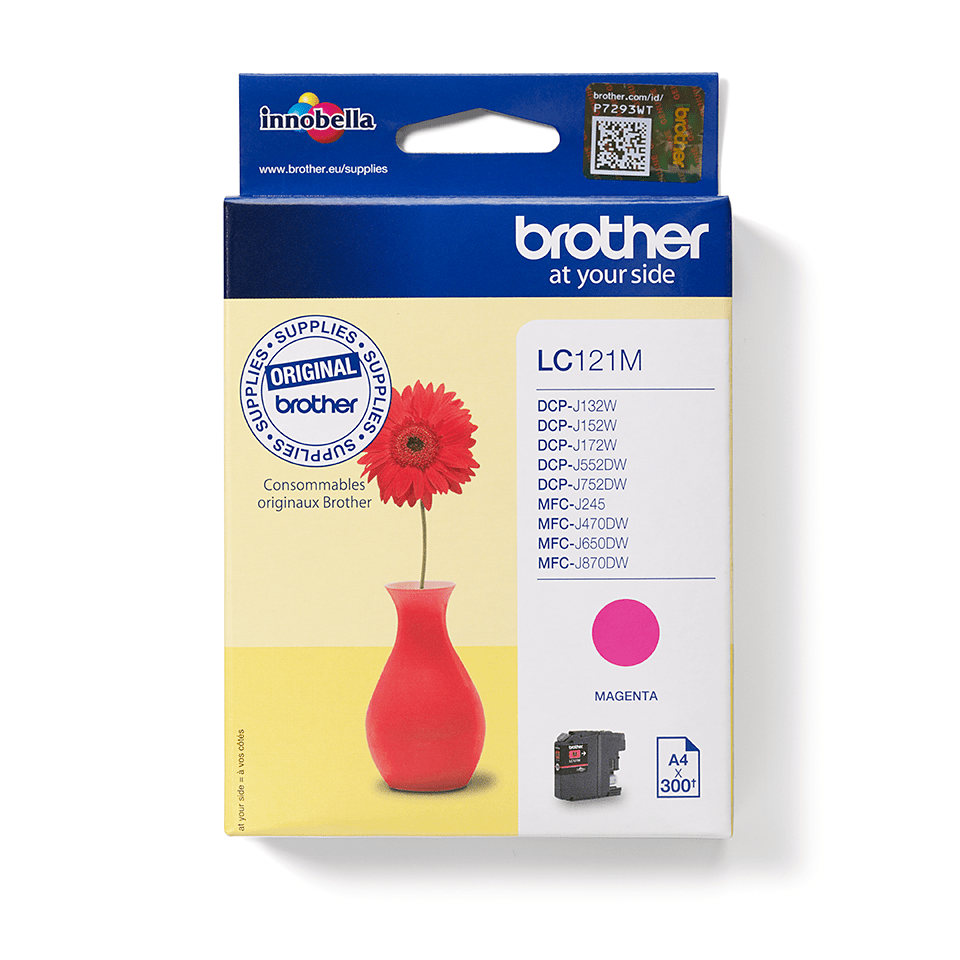 Genuine Brother LC121M Ink Cartridge – Magenta