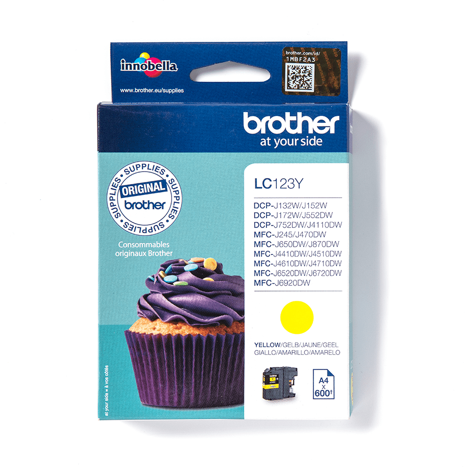 Genuine Brother LC123Y Ink Cartridge – Yellow