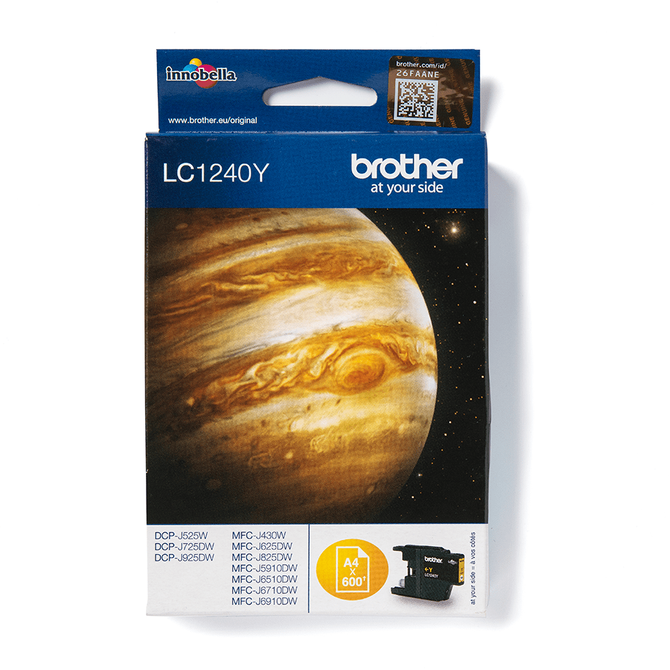Genuine Brother LC1240Y Ink Cartridge – Yellow 2