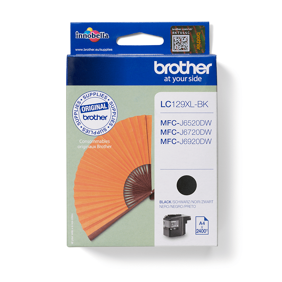 Genuine Brother LC129XLBK High Yield Ink Cartridge – Black