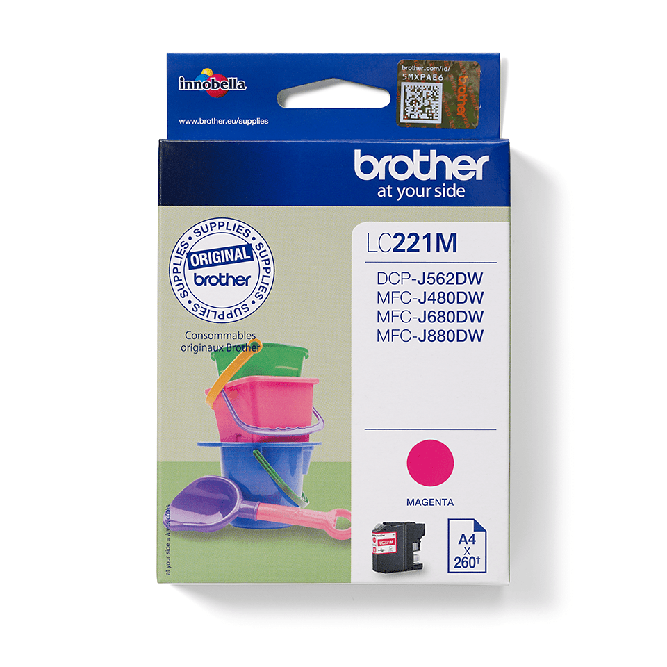 Genuine Brother LC221M Ink Cartridge – Magenta