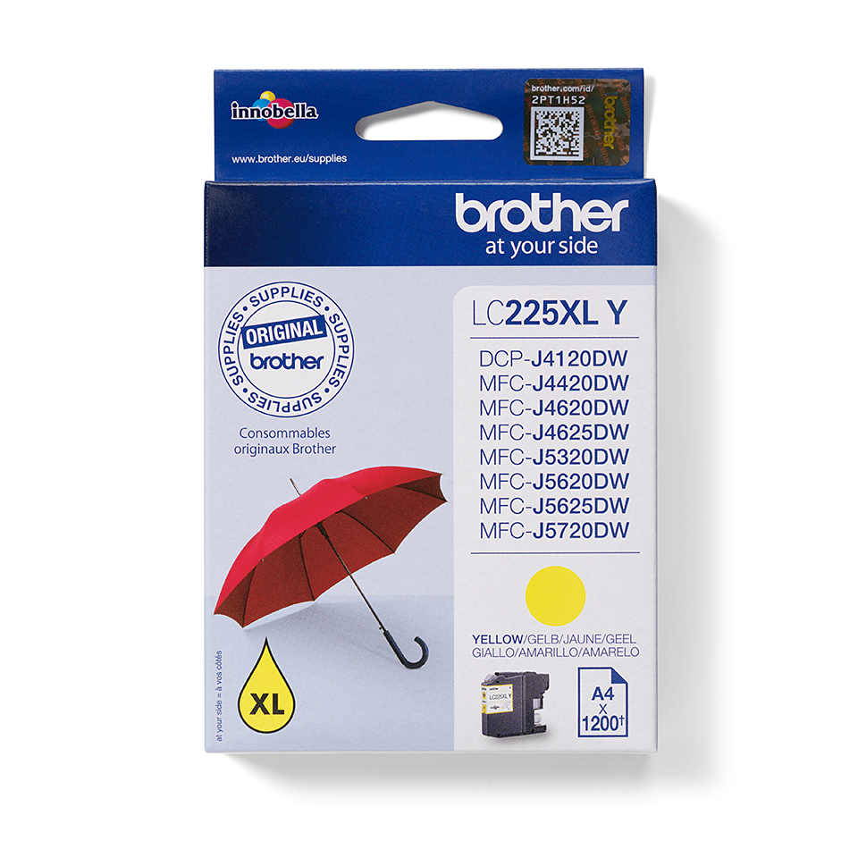 Genuine Brother LC225XLY Ink Cartridge – Yellow