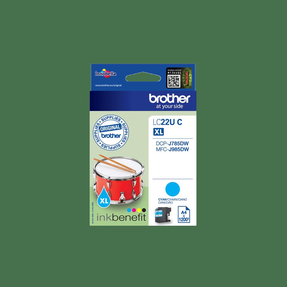 Genuine Brother LC22UC Ink Cartridge – Cyan