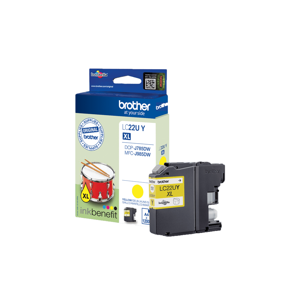 Genuine Brother LC22UY Super High Yield Ink Cartridge – Yellow