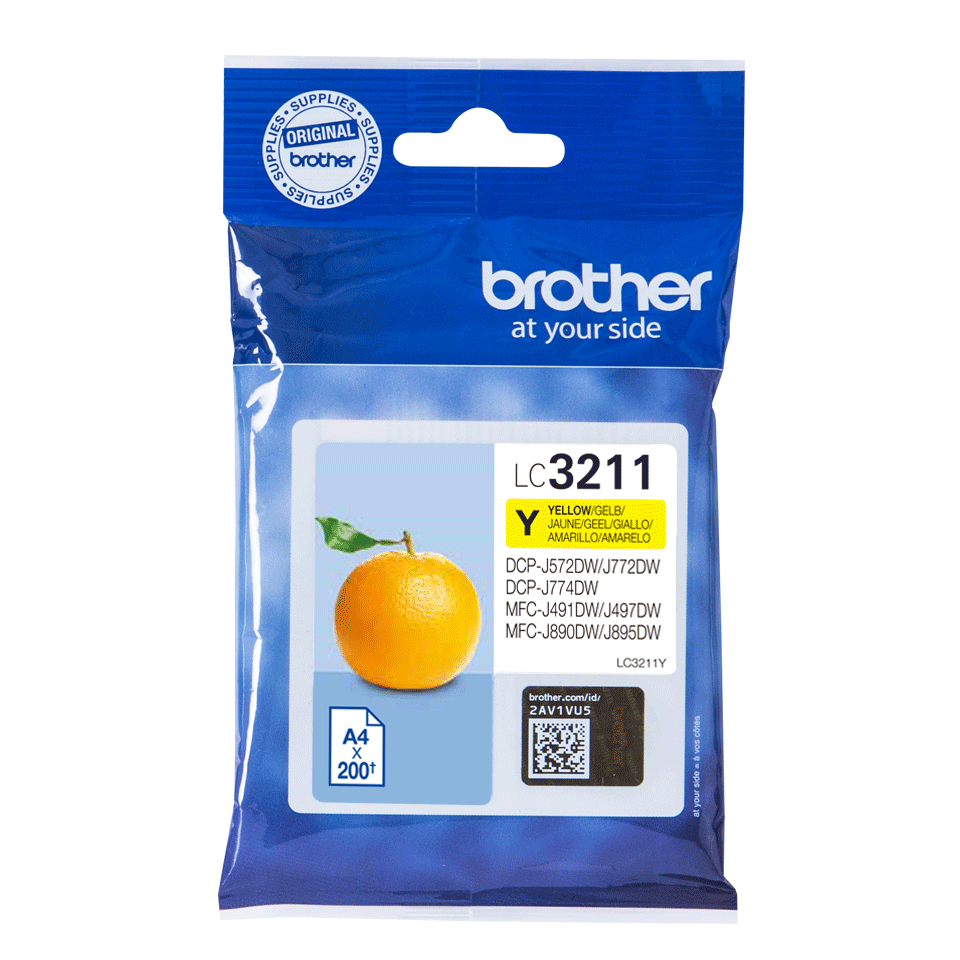 Genuine Brother LC3211Y ink cartridge - yellow