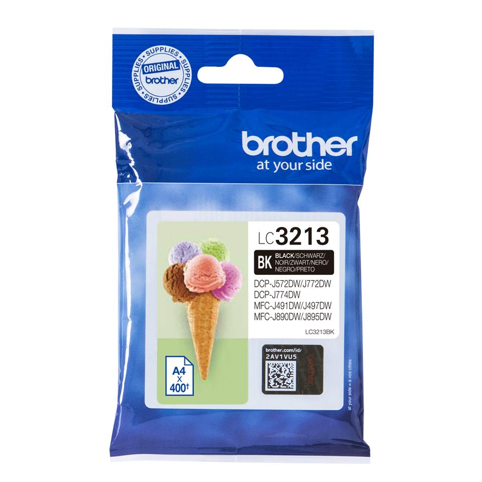 Brother genuine LC3213BK ink cartridge - black
