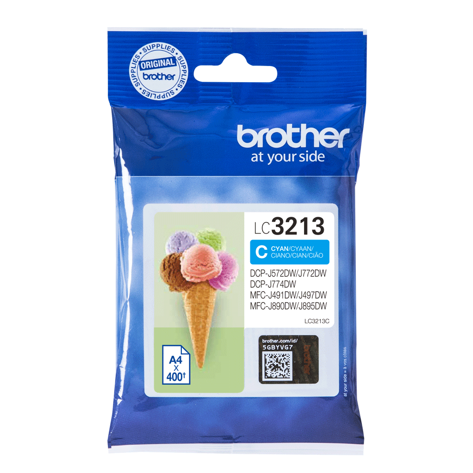 Genuine Brother LC3213C ink cartridge - cyan