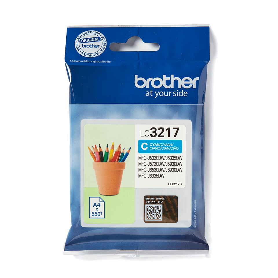 Genuine Brother LC3217C Ink Cartridge – Cyan