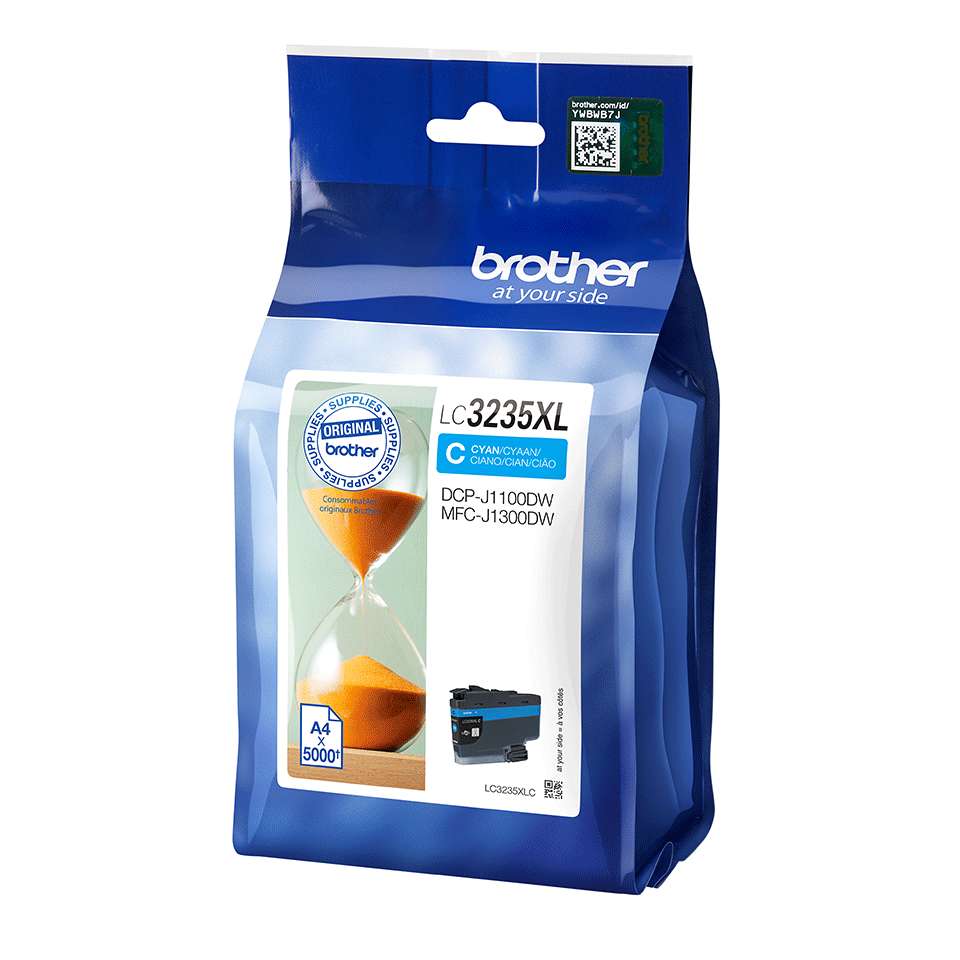 Genuine Brother LC3235XLC Ink Cartridge - Cyan 2
