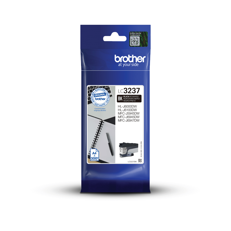Genuine Brother LC3237BK Ink Cartridge – Black