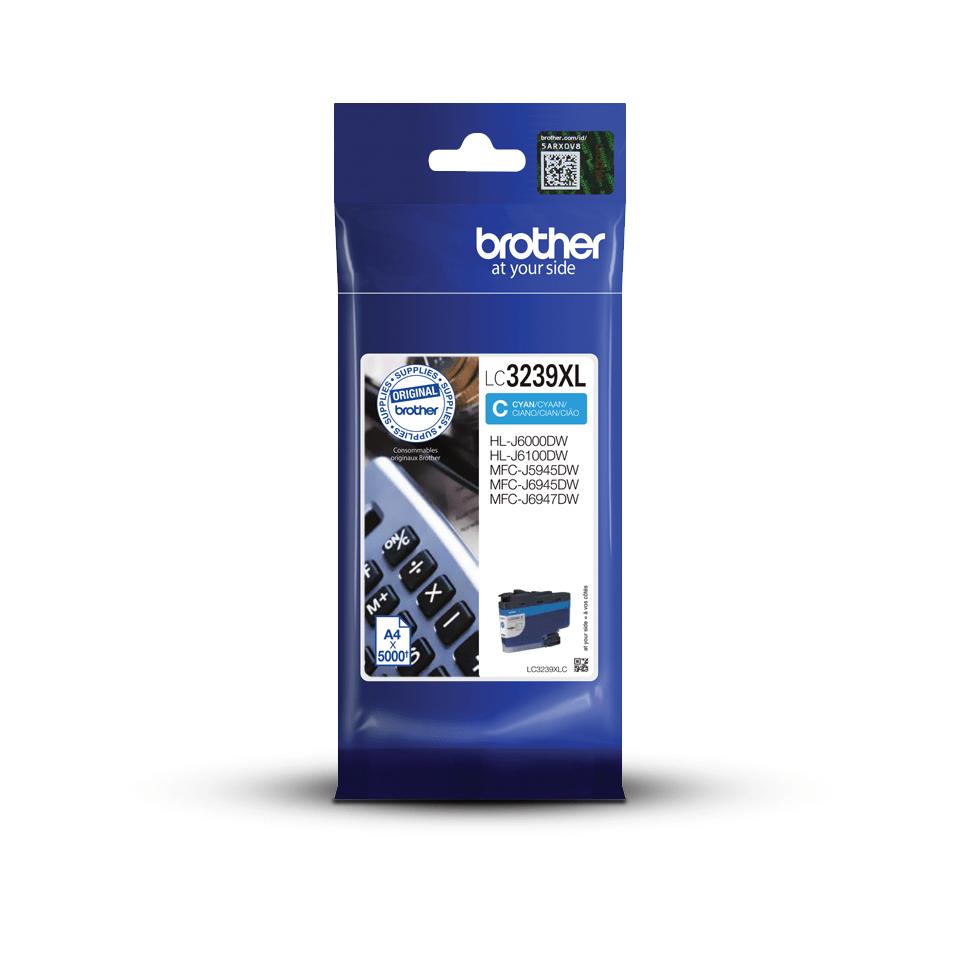 Genuine Brother LC3239XLC High-yield Ink Cartridge – Cyan
