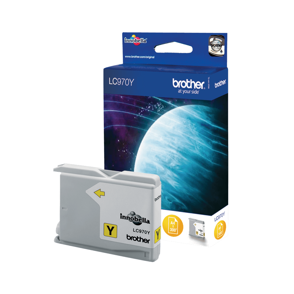 Genuine Brother LC970Y Ink Cartridge – Yellow