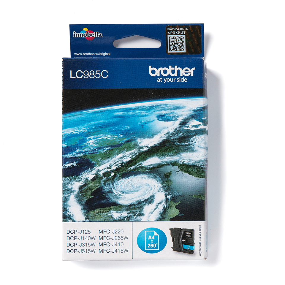 Genuine Brother LC985C Ink Cartridge – Cyan