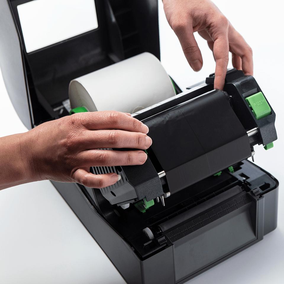 Standard Wax Thermal Transfer Black Ink Ribbon BWS-1D300-110 3
