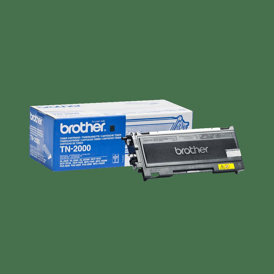 Genuine Brother TN-2000 Toner Cartridge – Black