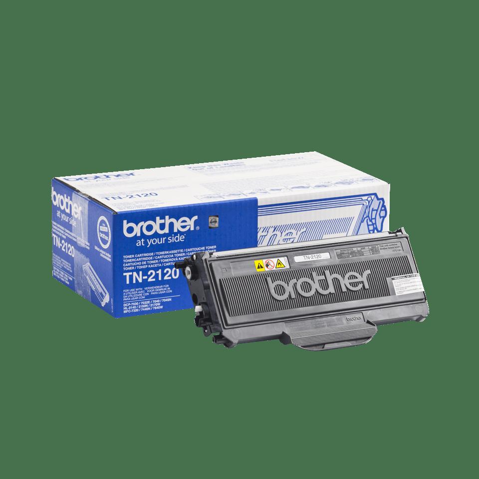 Genuine Brother TN-2120 High Yield Toner Cartridge – Black