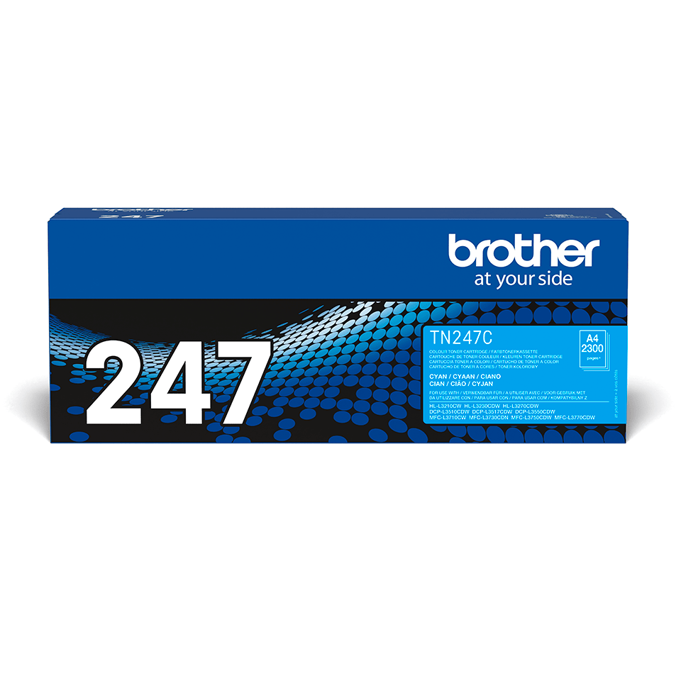 Genuine Brother TN-247C Toner Cartridge - Cyan