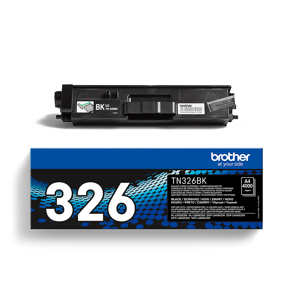 Genuine Brother High Yield TN-326BK Toner Cartridge – Black  2