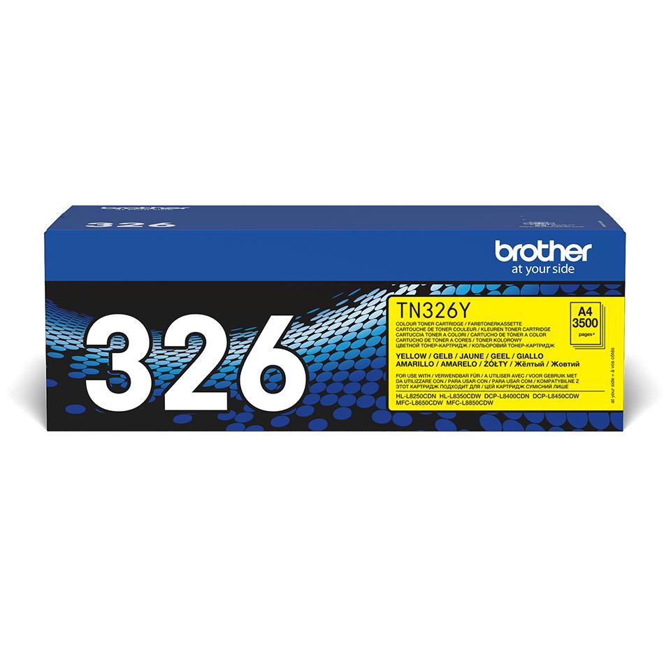 Genuine Brother TN-326Y Toner Cartridge – Yellow