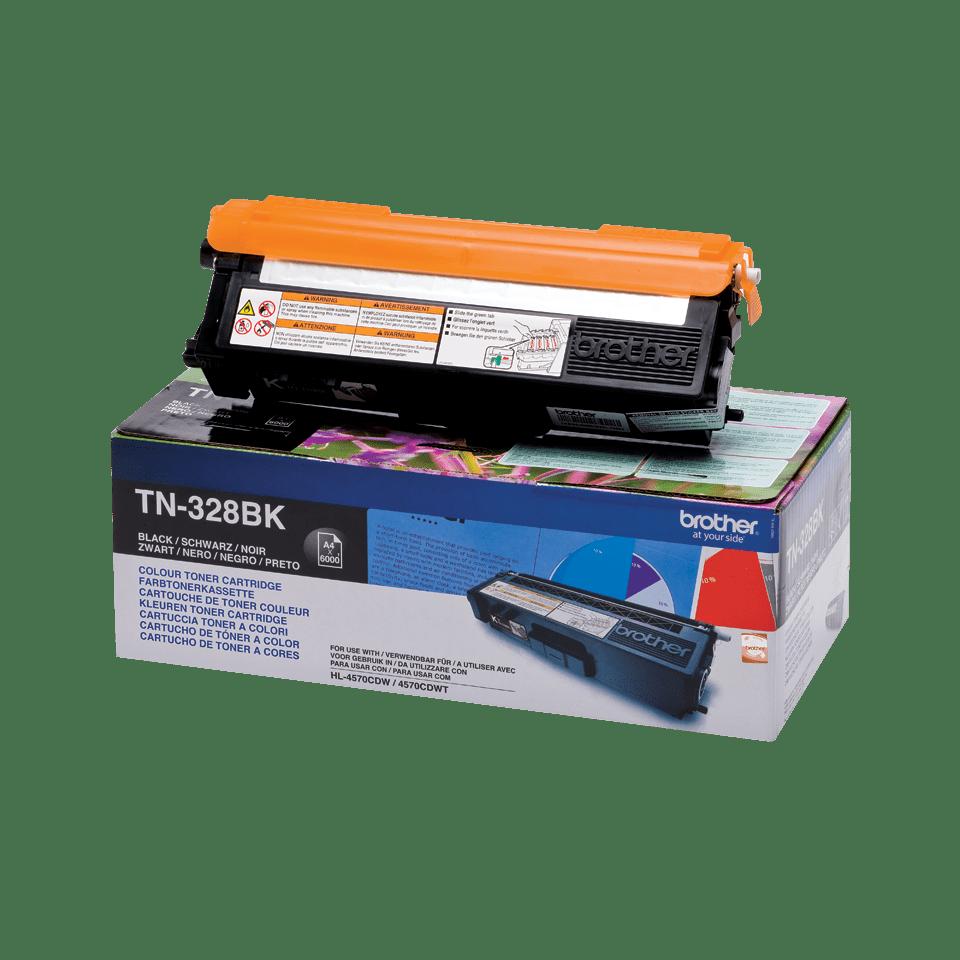 Genuine Brother TN-328BK Toner Cartridge – Black