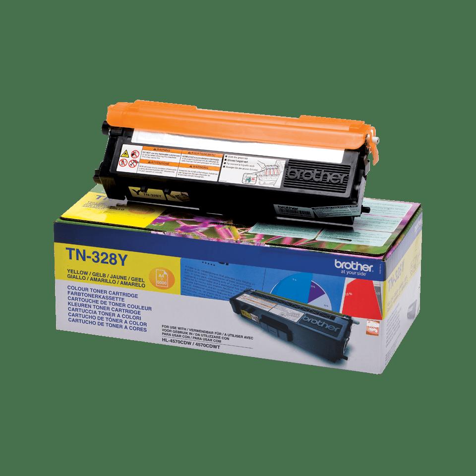 Genuine Brother TN-328Y Toner Cartridge – Yellow