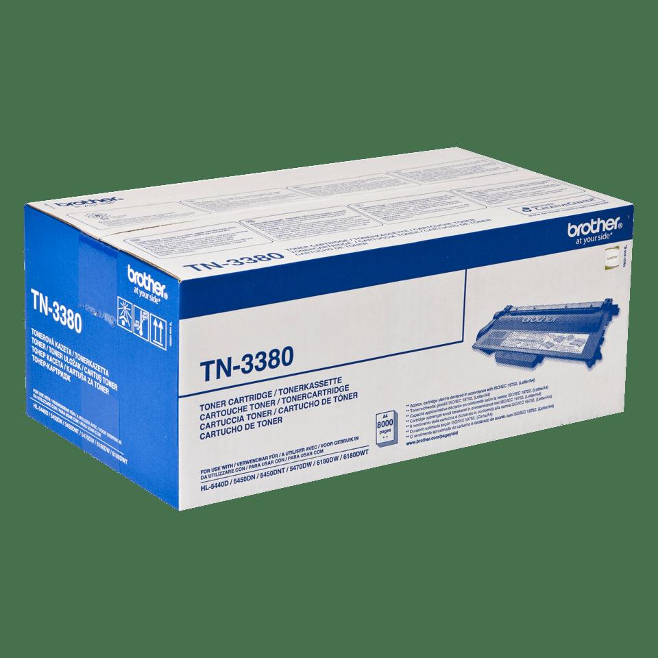 Genuine Brother TN-3380 High Yield Toner Cartridge – Black