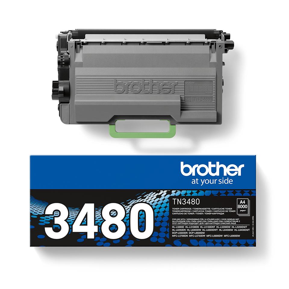 Genuine Brother TN-3480 Toner Cartridge – Black 2