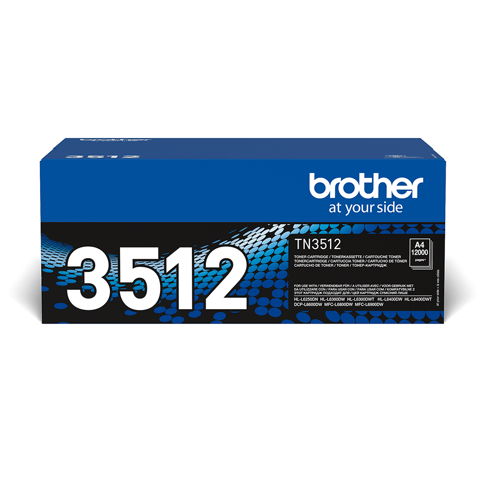 Genuine Brother High Yield TN-3512 Toner Cartridge – Black