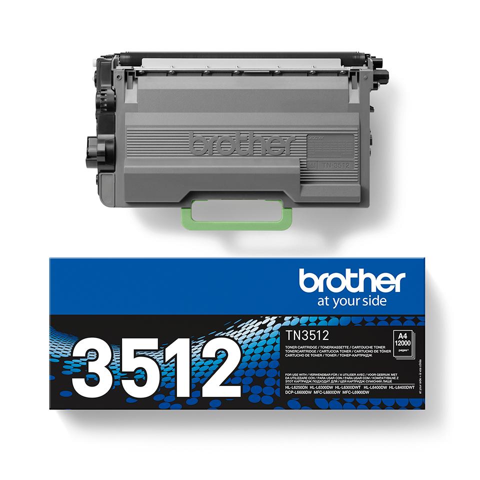 Genuine Brother High Yield TN-3512 Toner Cartridge – Black 2