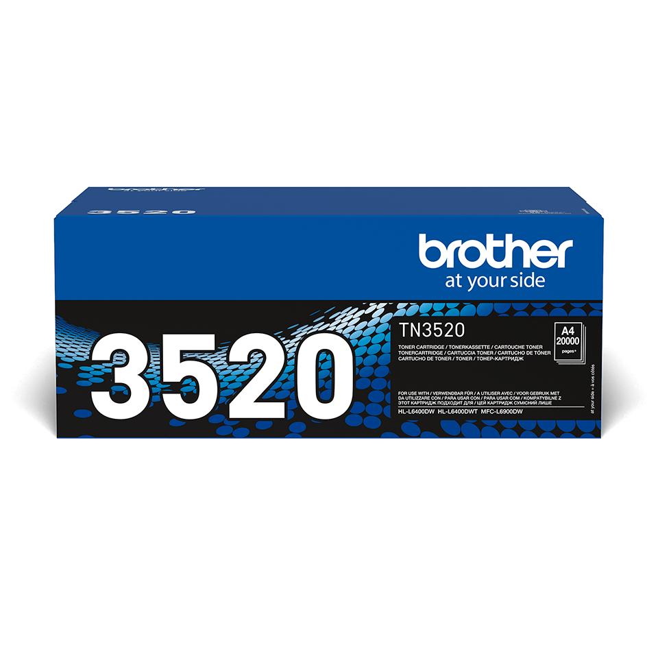 Genuine Brother TN-3520 Ultra High Yield Toner Cartridge – Black