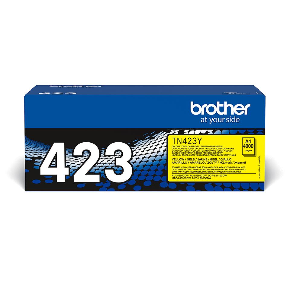 Brother TN-423Y Toner Cartridge - Yellow 0
