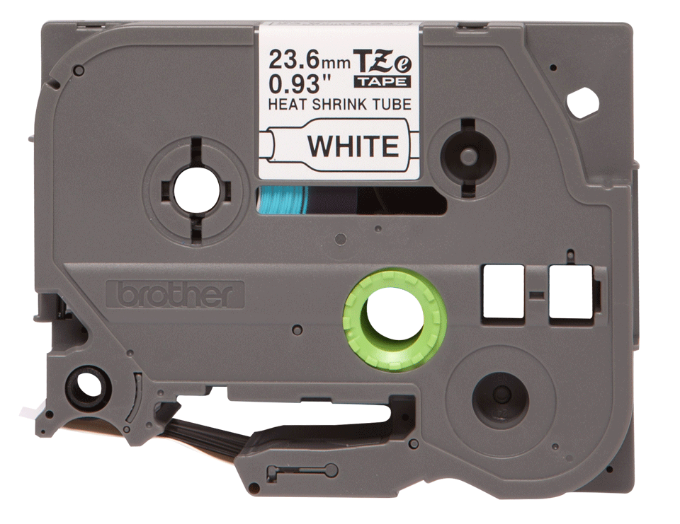 Genuine Brother HSe-251 Heat Shrink Tube Tape Cassette – Black on White, 23.6mm wide