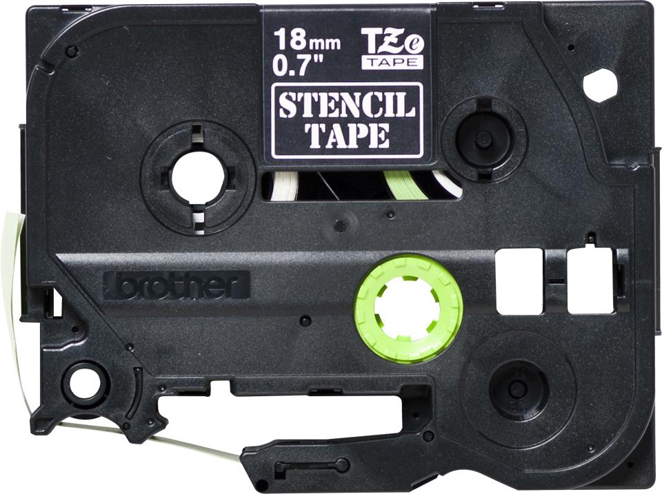 Genuine Brother STe-141 Stencil Tape Cassette – Black, 18mm wide